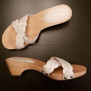 Banana Republic Wooden Clog Sandals size 6